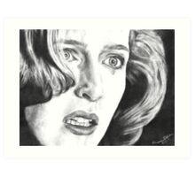 Dana Scully- Pusher (with tear) Art Print