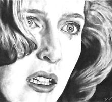 Dana Scully- Pusher (with tear) by MarinaDekker