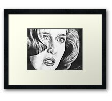 Dana Scully- Pusher (with tear) Framed Print