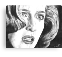 Dana Scully- Pusher (with tear) Canvas Print