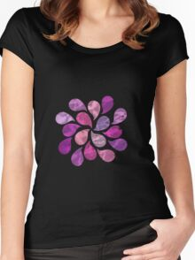 Abstract Water Drops  Women's Fitted Scoop T-Shirt