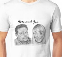 John Thomson and Fay Ripley play Pete and Jen Unisex T-Shirt