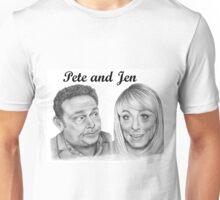 John Thomson and Fay Ripley play Pete and Jen Unisex T-Shirt