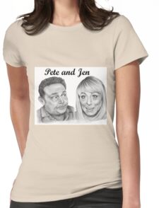 John Thomson and Fay Ripley play Pete and Jen Womens Fitted T-Shirt