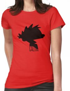 calvin box Womens Fitted T-Shirt