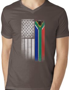 South African American Flag Mens V-Neck T-Shirt