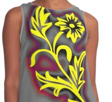 Yellow is psychologically the happiest colour in the colour spectrum Contrast Tank