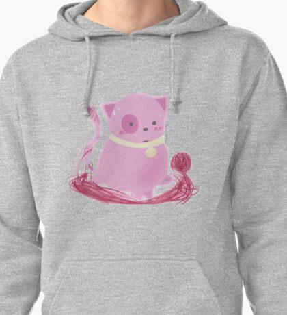 Muffin - Kawaii Pink Yarn Kitty! Pullover Hoodie
