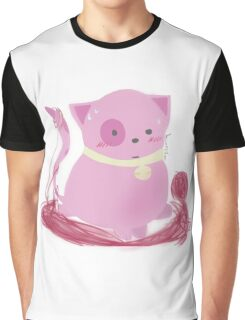 Muffin - Kawaii Pink Yarn Kitty! Graphic T-Shirt