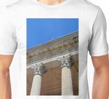 Two Corinthian columns at a temple Unisex T-Shirt