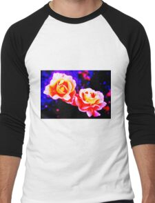 Psychedelic Roses Men's Baseball ¾ T-Shirt