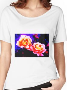 Psychedelic Roses Women's Relaxed Fit T-Shirt