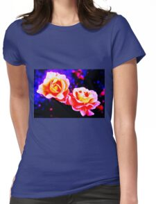 Psychedelic Roses Womens Fitted T-Shirt