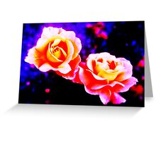 Psychedelic Roses Greeting Card