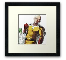 One Punch Man - After Shopping Framed Print