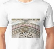 Detail of classical entrance to cathedral in Assisi Unisex T-Shirt