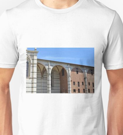 Detail of arches from the cathedral in Siena Unisex T-Shirt