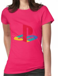 Playstation One Emblem Womens Fitted T-Shirt