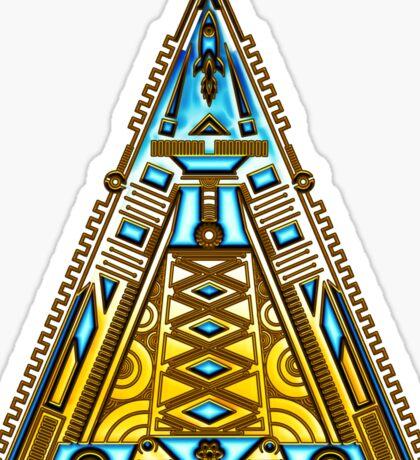 Pyramid, Triangle, Alien Base, Rocket, Spaceship Sticker