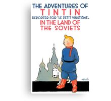 Tintin - In the Land of the Soviets Canvas Print