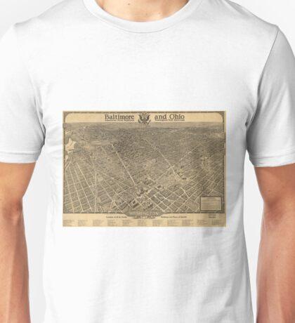Vintage Pictorial Map of Washington D.C. (1921) Unisex T-Shirt