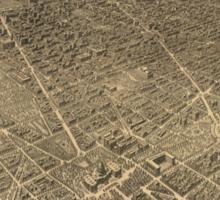 Vintage Pictorial Map of Washington D.C. (1921) Sticker