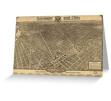 Vintage Pictorial Map of Washington D.C. (1921) Greeting Card