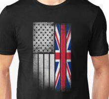 British American Flag Unisex T-Shirt