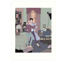 Dance Lessons in 221B Art Print