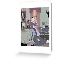Dance Lessons in 221B Greeting Card