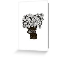 Oh my deer! Holiday handwritten lettering Greeting Card