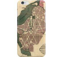 Vintage Map of Washington D.C. (1793) iPhone Case/Skin
