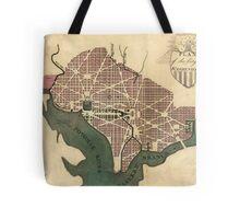 Vintage Map of Washington D.C. (1793) Tote Bag