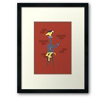 Poetic Giraffe Framed Print