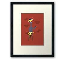 Poetic Giraffe Framed Print
