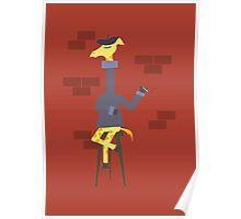 Poetic Giraffe Poster