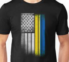 Ukrainian American Flag Unisex T-Shirt