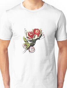 Flower Decoration in color Unisex T-Shirt