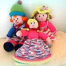 Three knitted Dolls - wonderful handwork by EdsMum