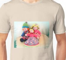 Three knitted Dolls - wonderful handwork Unisex T-Shirt