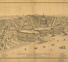 Vintage Pictorial Map of Washington D.C. (1872) by BravuraMedia