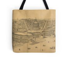Vintage Pictorial Map of Washington D.C. (1872) Tote Bag