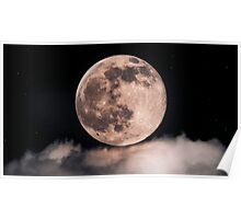 Full moon over cloud Poster