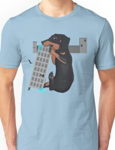 Attack of the Enormous Dachshund Unisex T-Shirt