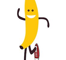 Awesome Running Banana by Eggtooth