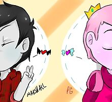 Marshall Lee and Prince Gumball Smooch by Amber Taschereau