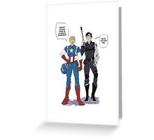 Sherlock and John go to Comic Con Greeting Card