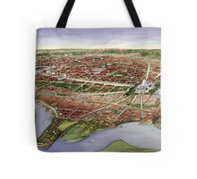 Vintage Pictorial Map of Washington D.C. (1901) Tote Bag
