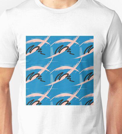 Blue brush pattern Unisex T-Shirt