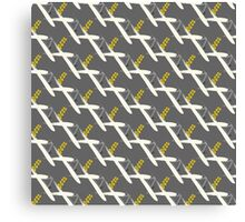 grey yellow brushstroke bg Canvas Print